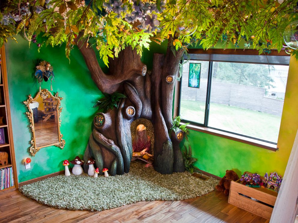 Dad Builds Magical Fairy Tale Tree In Daughter S Bedroom