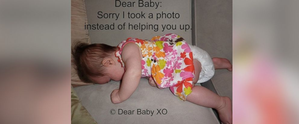 "PHOTO: Sarah Showfety posted this photo with the caption, ""Dear Baby: Sorry I took a photo instead of helping you."""