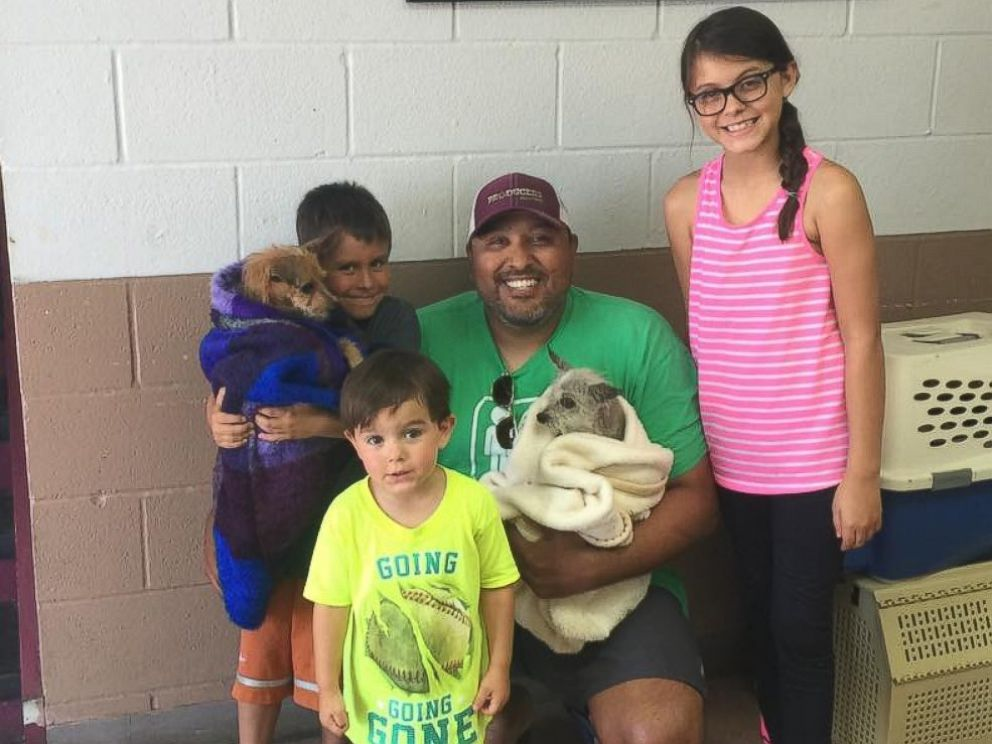 PHOTO: A Texas family was reunited with their dog Corky, whos been missing for nearly seven years, on July 23, 2016.