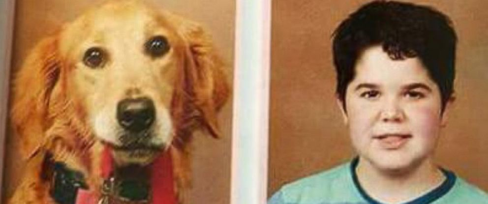 PHOTO: Service Dog Stars in Middle School Yearbook Alongside Proud Owner