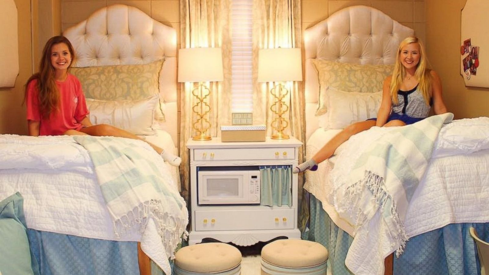 College Roommates\' Ultra-Chic Monogrammed Dorm Room Goes Viral - ABC ...
