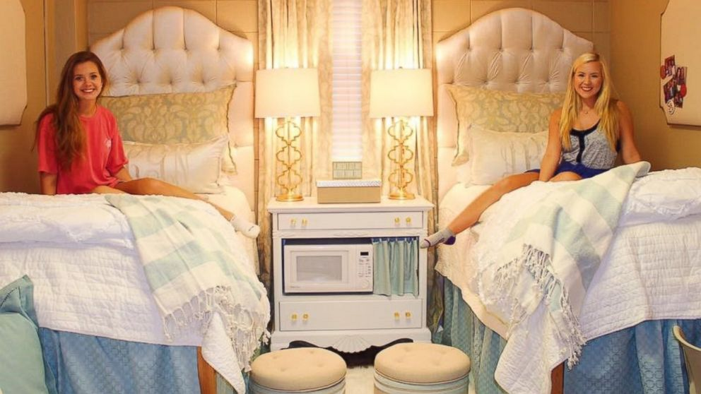 College Roommates' Ultra-Chic Monogrammed Dorm Room Goes ...