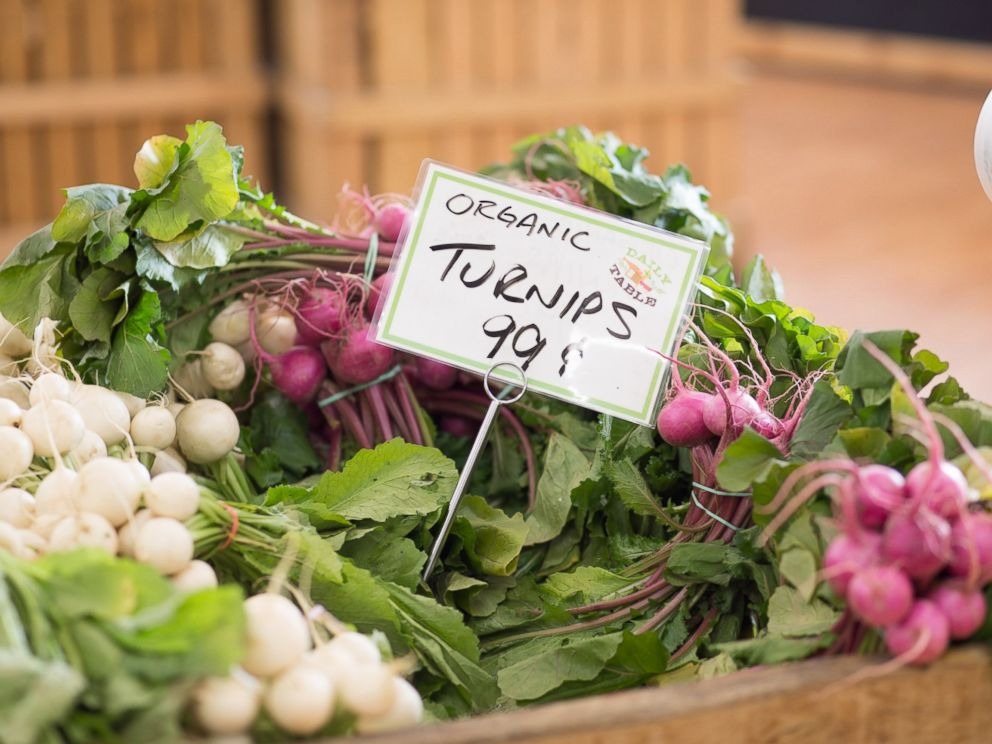 PHOTO: Daily Table even has organic produce, like these turnips for 99 cents a bunch.