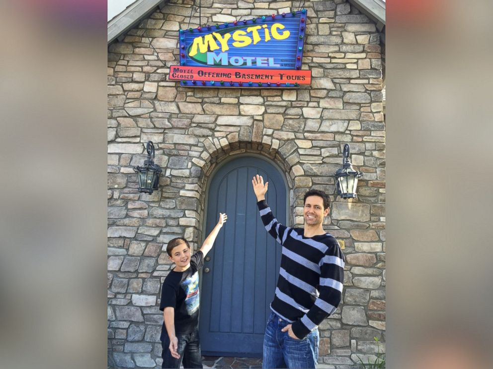 PHOTO: Family Builds Eerie Mystic Motel theme park ride inside their home in Ladera Ranch, Calif.