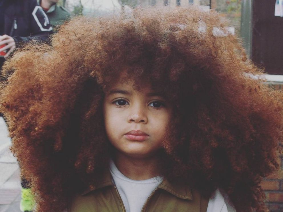 Big Haired Little Boy Earns Internet Fame With Colossal Curls Abc News