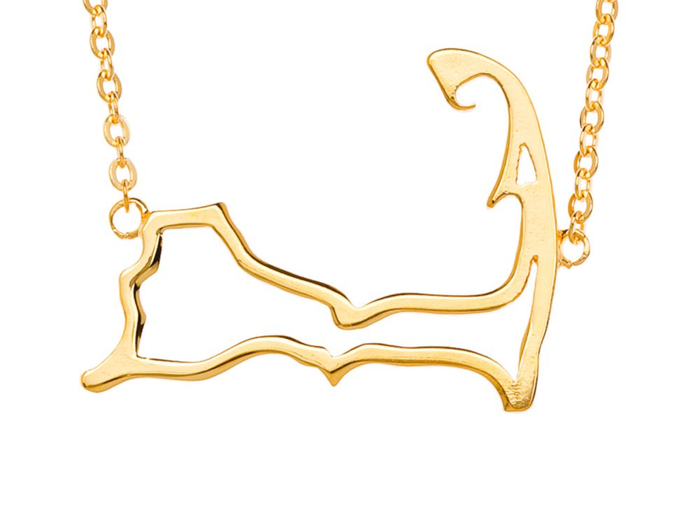 PHOTO: Gold Cape Cod necklace by Samantha Faye