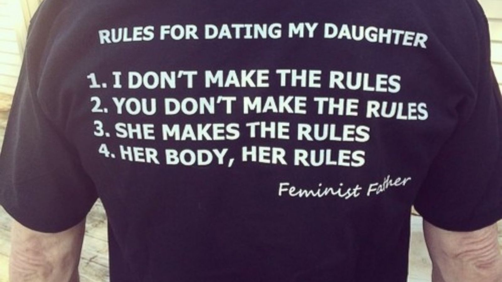 dads rules for dating daughter shirt