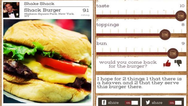 "PHOTO: According to the developers, Burgerator was created by a group of friends who wanted to help users answer the question, ""What's the best burger in your city?"""