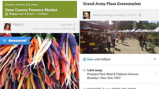 PHOTO: The Farmstand application was designed to help users locate farmers markets and share pictures and notes with other users.