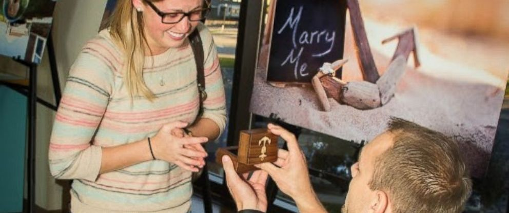 PHOTO: Kyle Lawson of De Pere, Wis. captured the entire proposal to his girlfriend, Stef Bunday, on Oct. 16, 2015 with a GoPro. Lawson and Bunday have plans to wed in 2016.