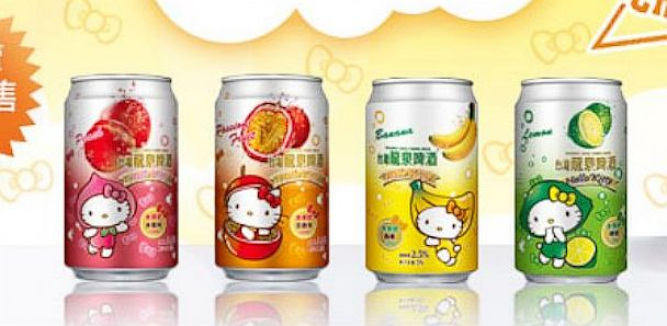 PHOTO: Long Quan Brewery in China is selling Hello Kitty beer.