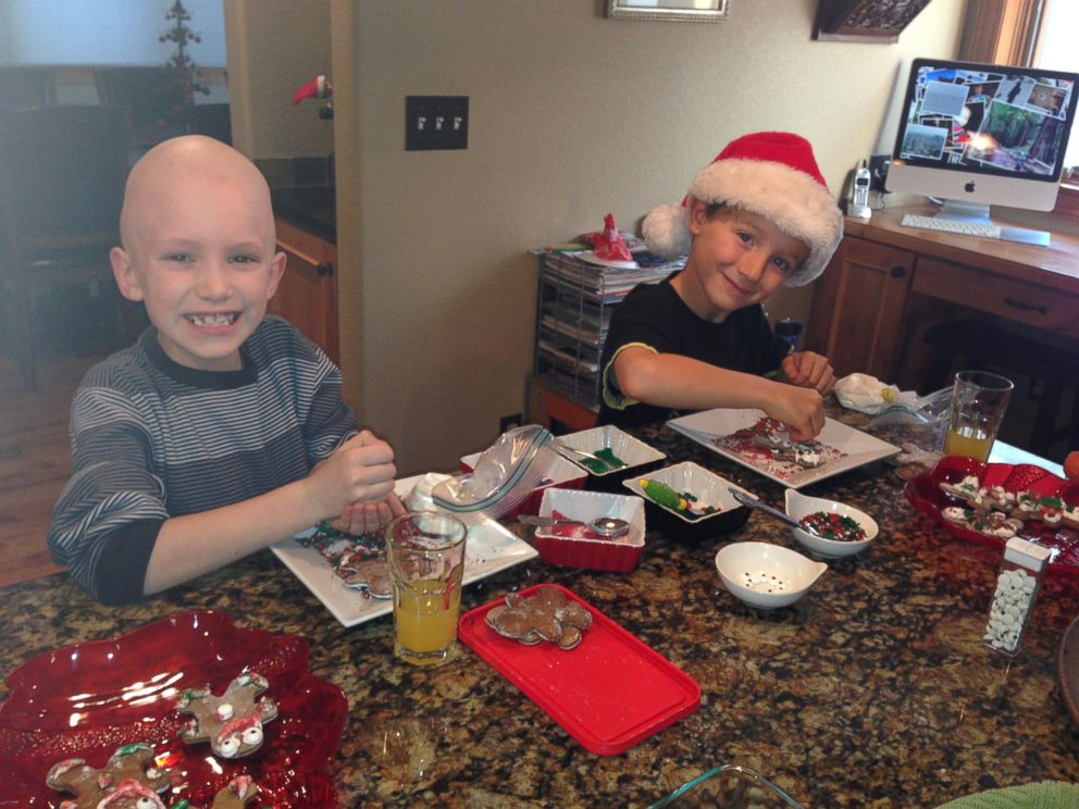 PHOTO: If there were no Childrens Hospital, there would be no Cade, Tristan Regini, right, said of his friend Cade, left.