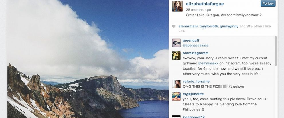 PHOTO Denis LaFargue Began Commenting On Elizabeth Wisdoms Instagram Feed When He Recognized One Of