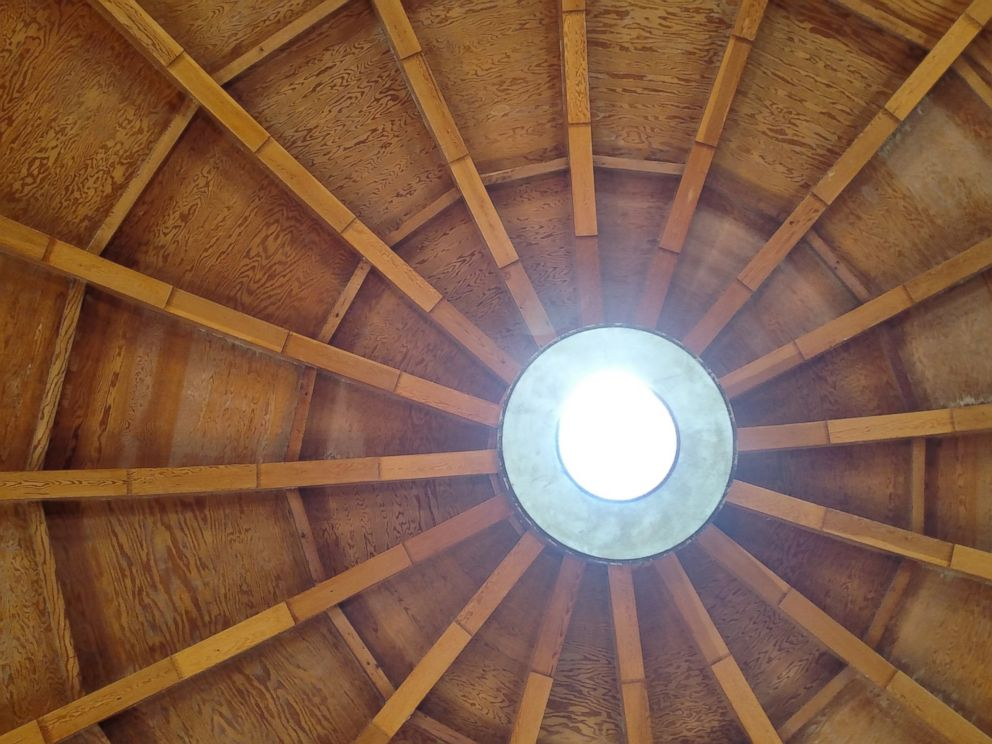 PHOTO: An open-air skylight sits at the top of the dome of the Integratron.