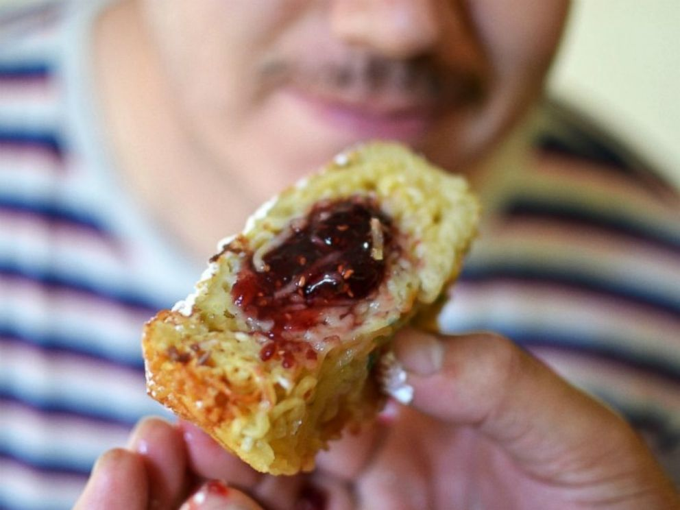 PHOTO: A jelly ramen donut.