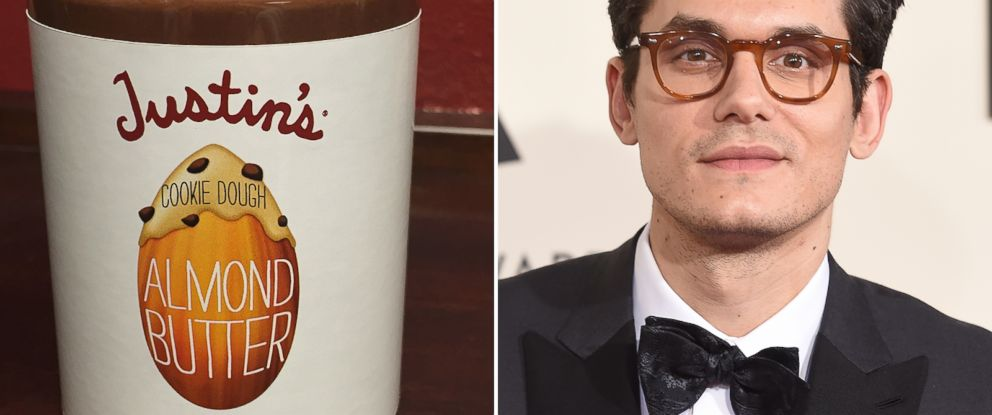 PHOTO: After Tweeting at Justins, the peanut butter company made a custom Cookie Dough Almond Butter for John Mayer.
