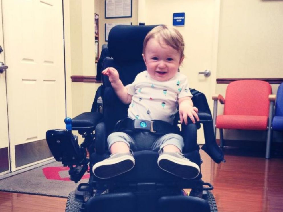 PHOTO:Kaden Myers was diagnosed with spinal muscular atrophy at seven months old.