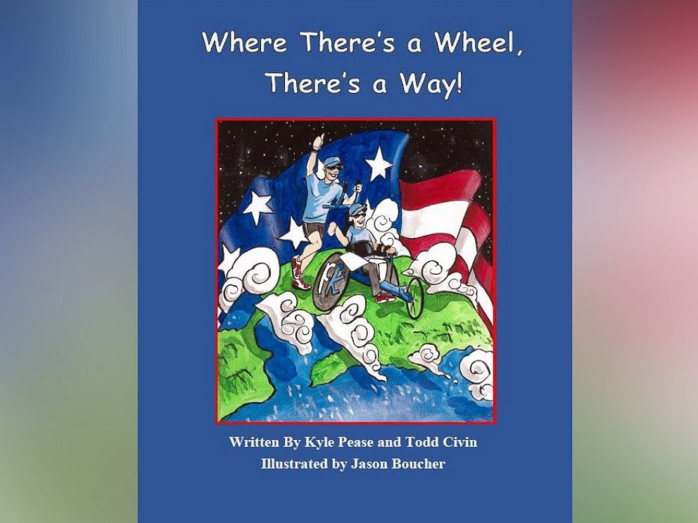 PHOTO: Kyle Peases childrens book,Where Theres a Wheel Theres a Way, is about overcoming obstacles in life.