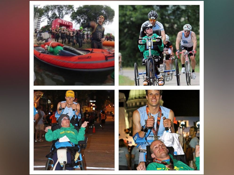 PHOTO: Brothers Kyle and Brent Pease, of Atlanta, Ga., travel the country to undertake endurance races and train athletes with The Kyle Pease Foundation.