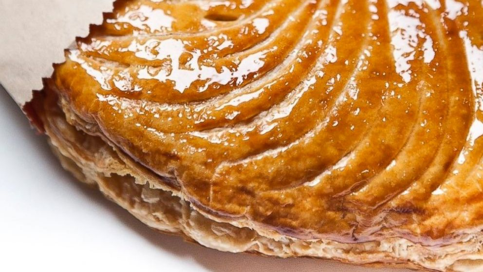 The Galettes des Rois at Benoit arrives in a classic brown paper bag.