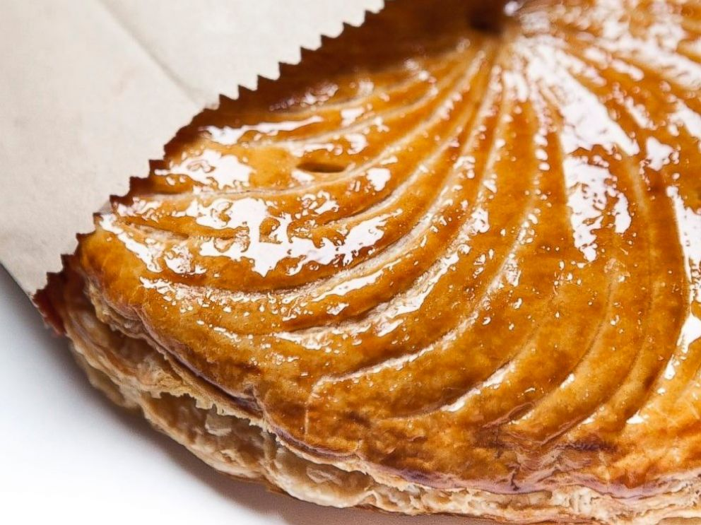 PHOTO: The Galettes des Rois at Benoit arrives in a classic brown paper bag.