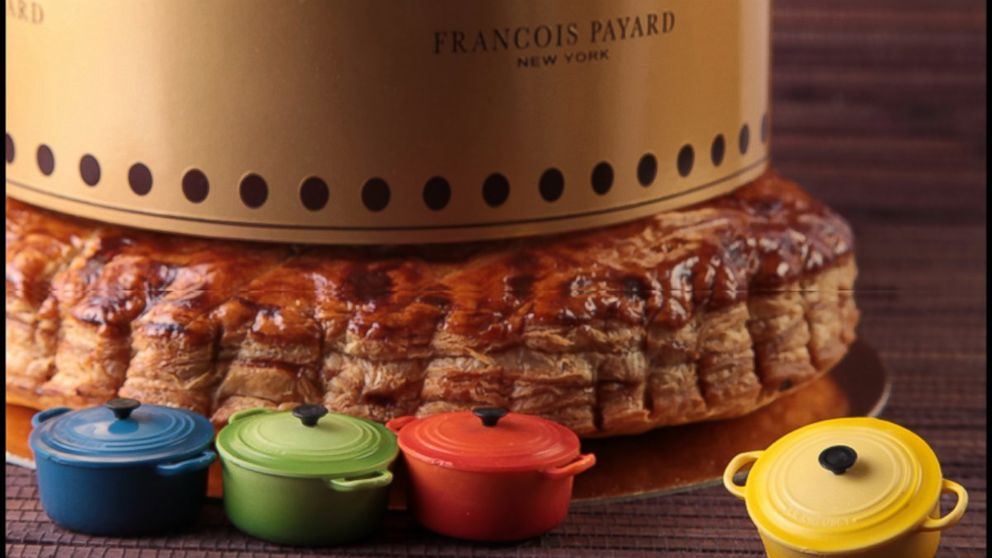At Francois Payard bakeries, one lucky customer will receive a King Cake with a special Le Creuset trinket baked inside -- signaling that the customer has won a special prize.