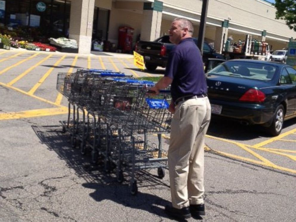 PHOTO: An undated handout photo shows Lee Bondurant working at Kroger grocery store in North Carolina where he has been employed for 23 years.