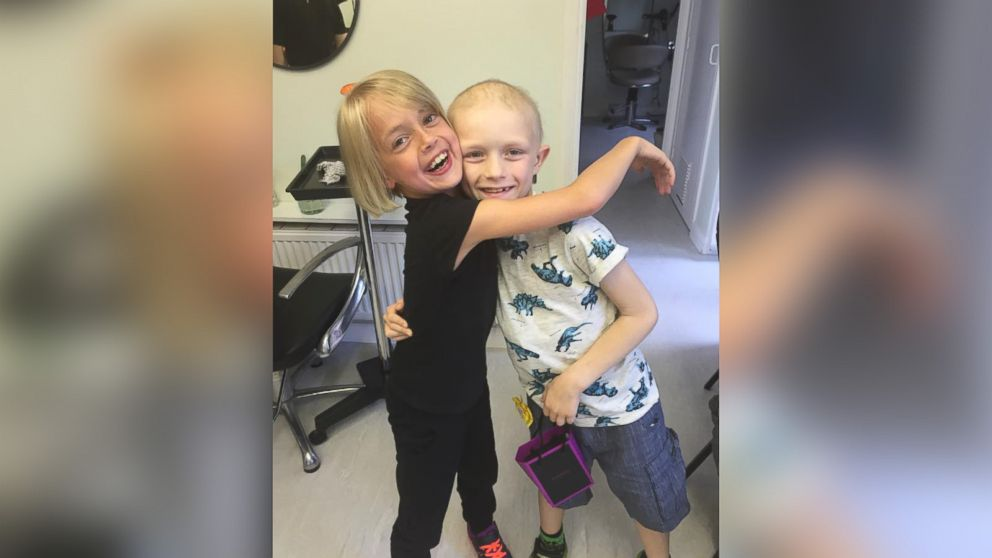 Libby Tucker-Spiers cut her long locks off for her best friend Aiden, who is battling cancer.