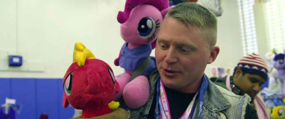 """PHOTO: Jake Hughes, 29, is a United States Army Staff Sgt., who also is a big fan of the TV series, """"My Little Pony: """"Friendship Is Magic."""""""