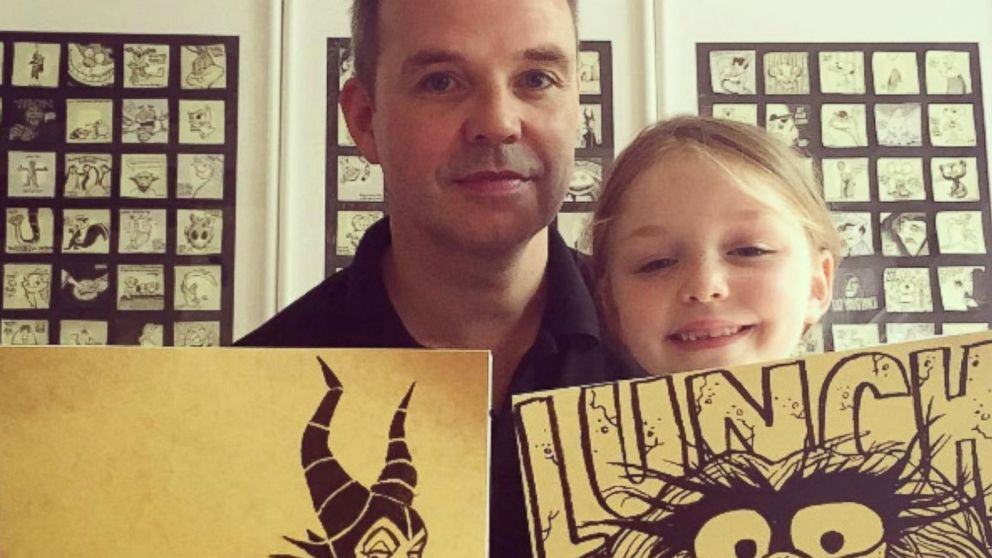 London Dad Draws Creative Post-it Notes for Daughter's Lunchbox