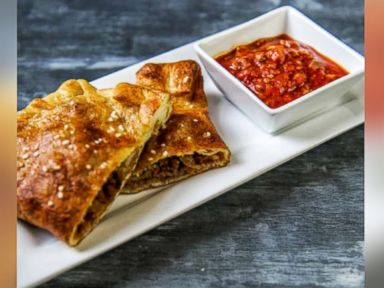 Cheesesteak Stuffed Soft Pretzel Calzones Recipe Dan Whalen