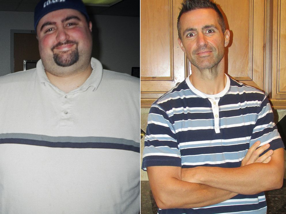 PHOTO: Mark Bryant is pictured before and after. He was 442 lbs, now hes 181 lbs.