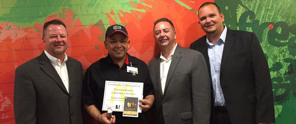 PHOTO: Kenny Soriano-Garcia was recognized with an award for his exceptional service.