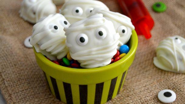 PHOTO: The Domestic Rebels Monster Cookie Dough Pretzel Mummy Bites