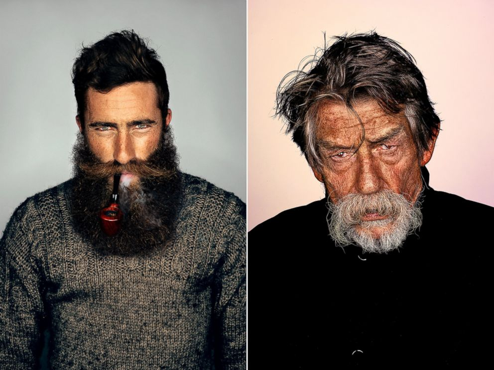 PHOTO: Australian Jimmy Niggles and actor John Hurt were photographed for a series on beards by photographer Brock Elbank.
