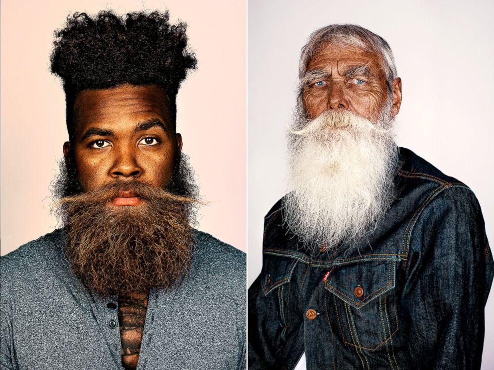 PHOTO: Brandon Baker and Frank Moon were photographed for a series on beards by photographer Brock Elbank.