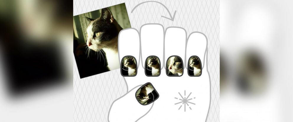 PHOTO: Share your NailSnaps designs with friends or order online.
