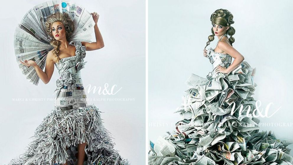Indiana Mother-Daughter Make High-Fashion Gowns Out of Newspapers ...