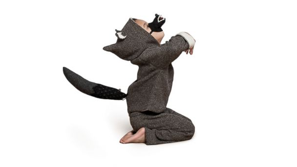 PHOTO: Oeuf Wolf Mask and Tail, Wolf Hoodie, Lucien Pants