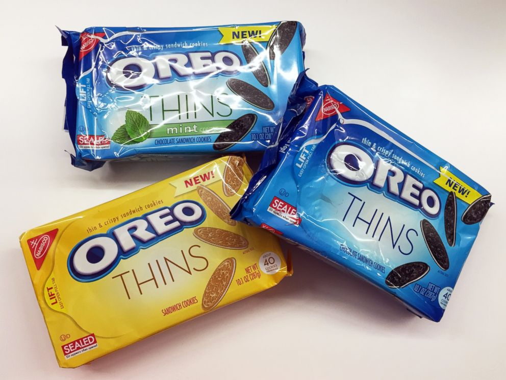 PHOTO: Oreo Thins come in three flavors: chocolate, graham and mint.