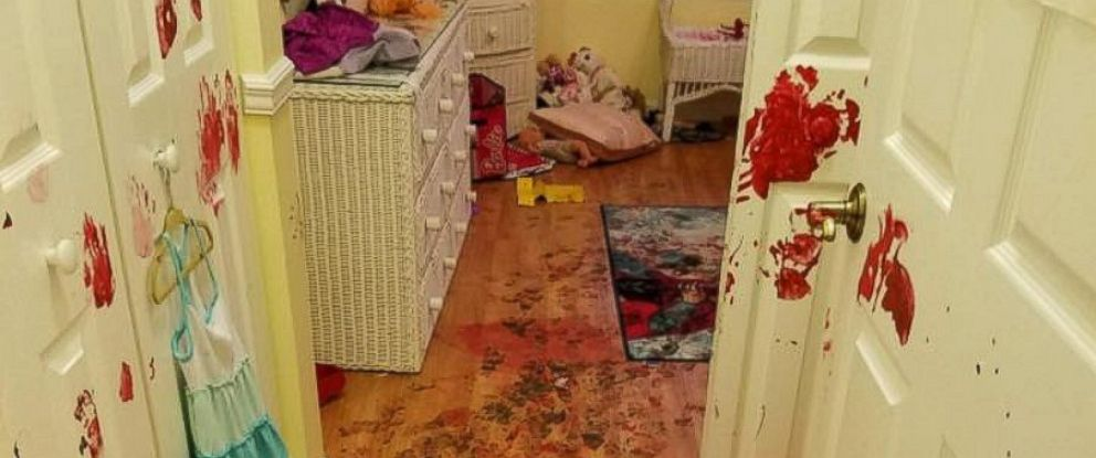 PHOTO: Dad Shocked to Discover Kids' Paint Explosion All Over Bedroom