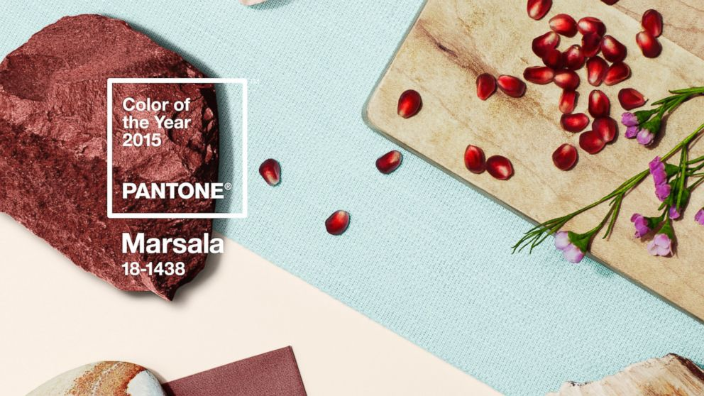 Pantone S Color Of The Year 2015 Is Marsala Abc News