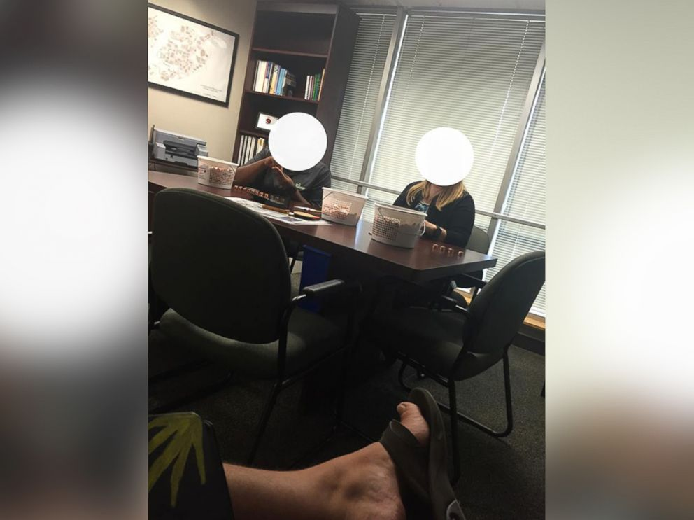 PHOTO: Coyle said it took two college employees and over three hours to count the coins.