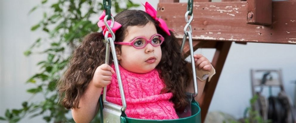 PHOTO: Photographer Karen Haberberg has started a Kickstarter campaign to finance her photo book on kids with rare genetic conditions. Maddy (pictured) cant walk.