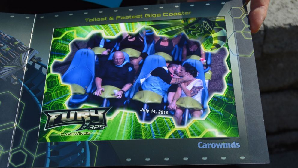 Thrill-Seeking Couple Ties the Knot on 325-Foot Roller Coaster
