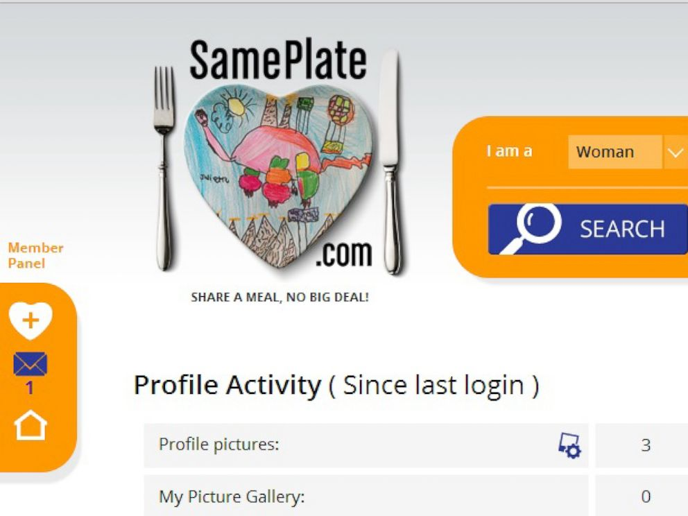 A screenshot of SamePlate.coms homepage.