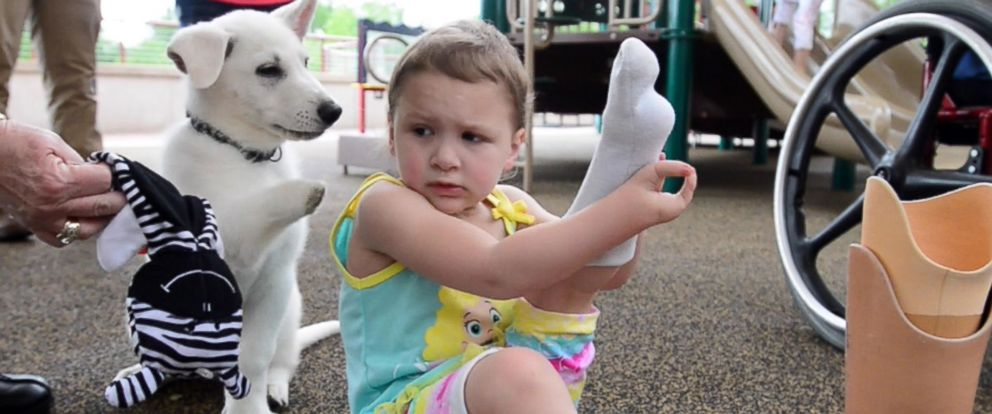 Tennessee Toddler Born Without Feet Gets Puppy Without a Paw