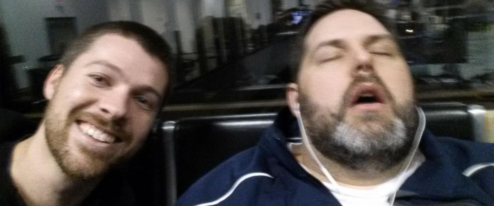 PHOTO: Government worker Lance Magnusson gets pranked in viral selfie by his co-worker Matt Brown.