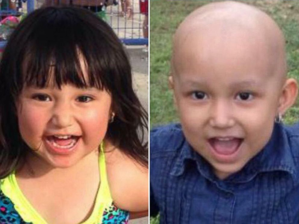 PHOTO: Sophia Sandoval before chemotherapy, left, and after, right.