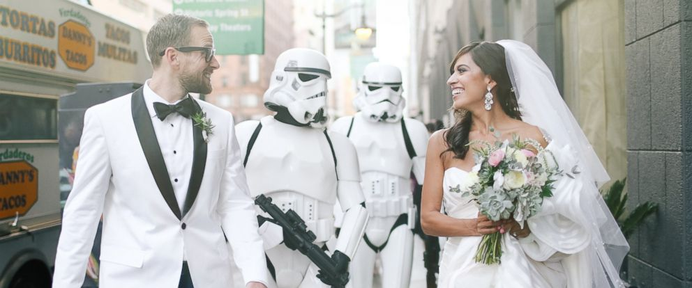 PHOTO: This couple incorporated subtle Star Wars touches into their recent wedding.